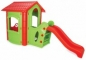 Casuta de joaca cu tobogan  - HAPPY HOUSE WITH SLIDE