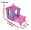 Casuta de joaca pentru fetite cu gardulet - STONE HOUSE WITH HEDGE