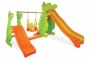 Complex  de joaca cu 2 tobogane si leagan DINO SWING AND DOUBLE SLIDE - Pilsan