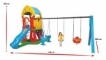 Complex  de joaca cu tobogan si leagane - ATLANTIS Swing And Slide Set