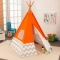 Cort pentru camera Play Teepee Orange w/Gray &White Chevron - KidKraft