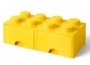 Cutie depozitare LEGO® 2x4 cu sertare, galben