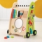 Jucarie educativa de impins cu activitati Push Along Play Cart - KidKraft