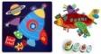 Pachet 2 Label Label minipaturica, puzzle si 4 cutii sandwich - Produsul 1 - elefant, girafa