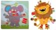 Pachet Label Label minipaturica, puzzle - Produsul 1 - elefant, leu