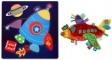 Pachet Label Label minipaturica, puzzle - Produsul 1 - racheta, leu