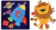 Pachet Label Label minipaturica, puzzle - Produsul 1 - urs polar, foca