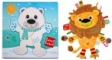 Pachet Label Label minipaturica, puzzle - Produsul 1 - urs polar, leu