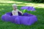 Piscina pentru copii cu capac, culoare Mov HIPPO POOL - Starplast