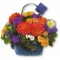 Punga de hartie Cosulet cu flori de vara