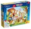 Puzzle de colorat - Familia Donald Duck (35 piese)