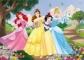 Puzzle de colorat maxi - Printese vesele (35 piese)