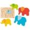 Puzzle stratificat Elefantii