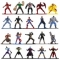 SET 20 DE FIGURINE METALICE CU EROII MARVEL SI FIGURINA IRON MAN INCLUSA