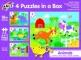 Set 4 puzzle-uri - Animalute (2, 3, 4, 5 piese)