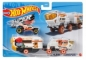 SET CAMION SI MASINA SPORT HOT WHEELS RED PLANET TRANSPORT