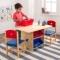 Set masa cu spatii depozitare si 2 scaune Star - Kidkraft