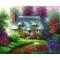 Set pictura pe panza - Peisaj Casuta romantica