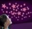 Set reflectorizant cu sclipici -  Luna si stele