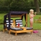 Sezlong  Dublu  pentru  copii Double Chaise Lounge, Honey&Navy - Kidkraft