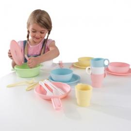 Accesorii pentru bucatarie 27-Piece Pastel Cookware Playset – Kidkraft