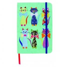 Agenda Eclectic cu coperti tari cartonate Cats in bowties