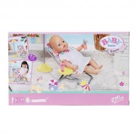 BABY born - Set plaja - umbrela cu scaun si accesorii 43 cm