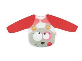 Badabulle– B007022– Baveta cu maneci lungi Pink Bear
