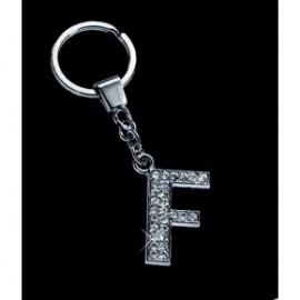 Breloc cu cristale litera F
