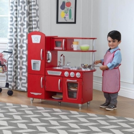 Bucatarie De Jucarie Din Lemn Red Vintage Kidkraft