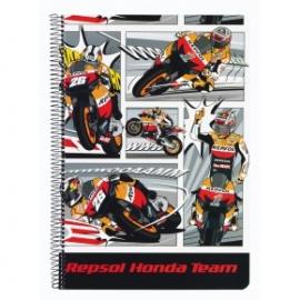Caiet cu spira A4-80 file Honda Repsol 2