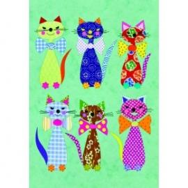 Caiet premium A5 Eclectic Cats
