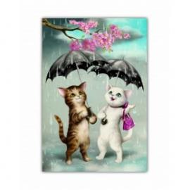 Caiet premium A5 Eclectic Raining Cats