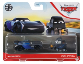 CARS3 SET 2 MASINUTE METALICE JACKSON STORM SI LAURA SPINWELL