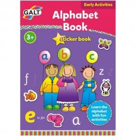 Carte cu activitati si abtibilduri - Alfabet