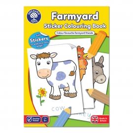 Carte de colorat cu activitati in limba engleza si abtibilduri Ferma FARMYARD
