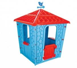 Casuta de joaca pentru copii, albastra - STONE HOUSE BLUE