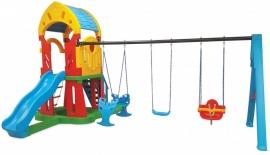 Centru de joaca cu tobogan si leagane - ATLANTIS Swing And Slide Set