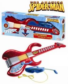 Chitara cu ochelari si microfon Spiderman