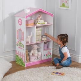 Spatiu depozitare casuta pentru papusi Cottage Bookcase - Kidkraft