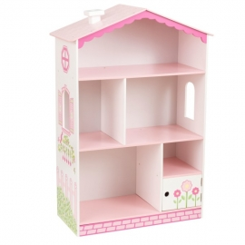 Spatiu depozitare jucarii si carti Dollhouse Cottage Bookcase – KidKraft