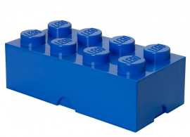Cutie depozitare LEGO® 2x4 albastru inchis
