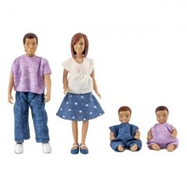 Familie de papusi Lundby cu doi bebelusi - Micki