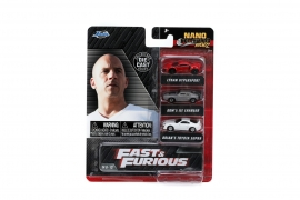 FAST AND FURIOUS SET 3 MASINUTE METALICE