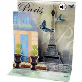Felicitare 3D muzicala PARIS