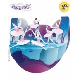 Felicitare 3D Popnrock-Lacul lebedelor