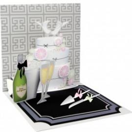 Felicitare 3D Treasure-Tort nunta