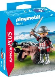 Figurina Cavaler Cu Tun