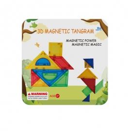 Joc de constructie magnetic - Tangram (7 piese)