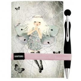 Jurnal Eclectic cu pix Miss Butterfly